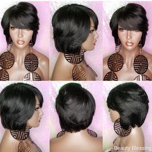 WIG100%Human Hair Remy Short Hair Bob Style